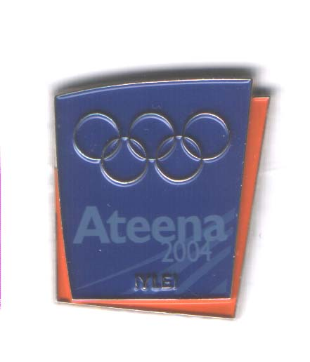 Athens 2004 media pin YLE Finnish TV